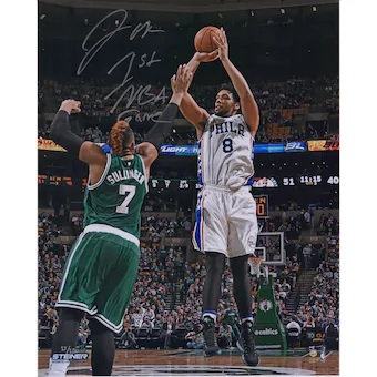 "Jahlil Okafor Philadelphia 76ers Autographed 16"" x 20"" NBA Debut with ""1st NBA G"