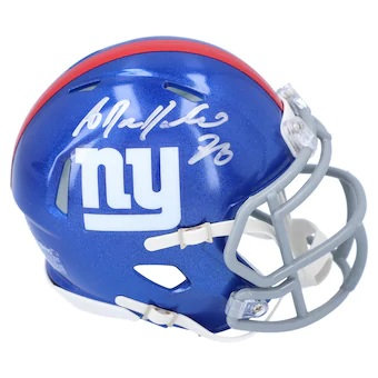 Antrel Rolle New York Giants Autographed Riddell Speed Mini Helmet
