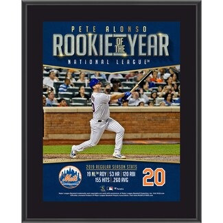 "Pete Alonso New York Mets Fanatics Authentic 10.5"" x 13"" 2019 NL Rookie of the Y"