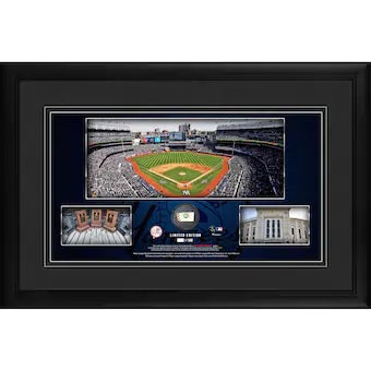 RAFFLE(RAZZ) FOR A NY YANKEE PANO STADIUM FRAMED PICTURE W/GU BALL LIMTED EDT