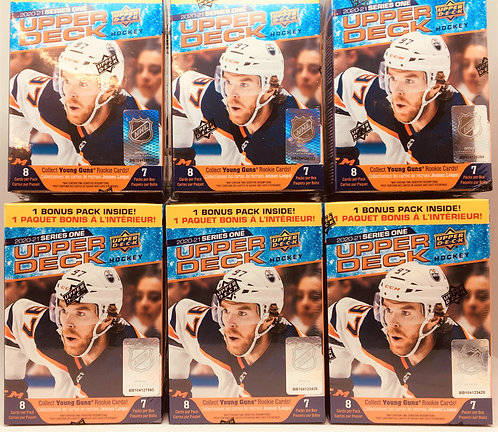 2020-21 Upper Deck Series 1 Hockey Pack Buster 6 Packs Per SLot