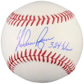 "RAFFLE(RAZZ ) FOR A NOLAN RYAN AUTOGRAPHED Baseball with ""324 Wins"" Inscription"