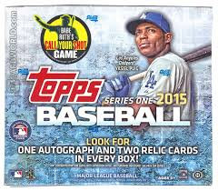 2015 TOPPS SERIES ONE JUMBO BOX