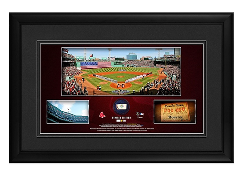 "Boston Red Sox Framed 10"" x 18"" Stadium Panoramic Collage with a Piece of Game-U"