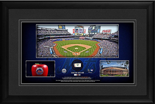 NEW YORK METS FRMD (STADIUM PANO) COLLAGE W/ GU BALL