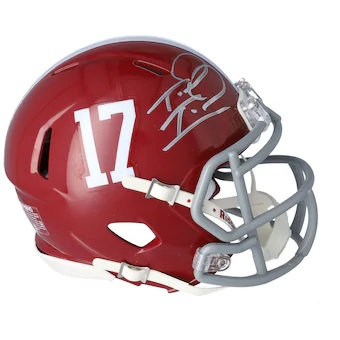 Tua Tagovailoa Alabama Crimson Tide Autographed Riddell Speed Mini Helmet