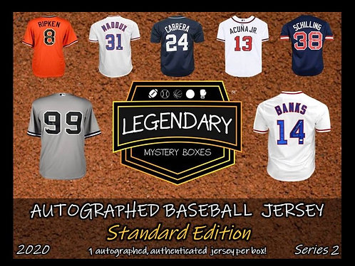 Legendary Baseball  Jersey Break! Pick your number 0-9