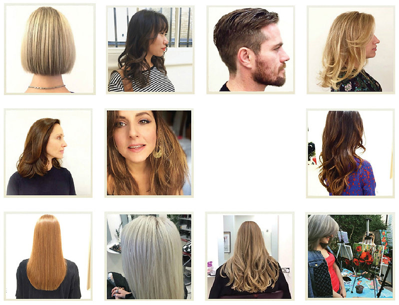 Examples of hair colouring and balayage at Tomoyuki&Co, our beautiful clients and their haircuts and colours.