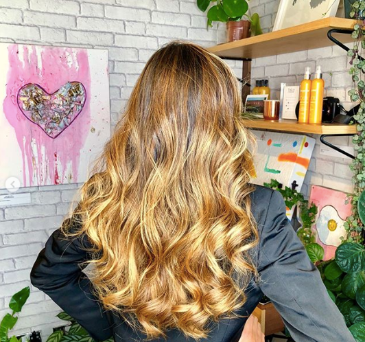Healthy hair after wash in London salon