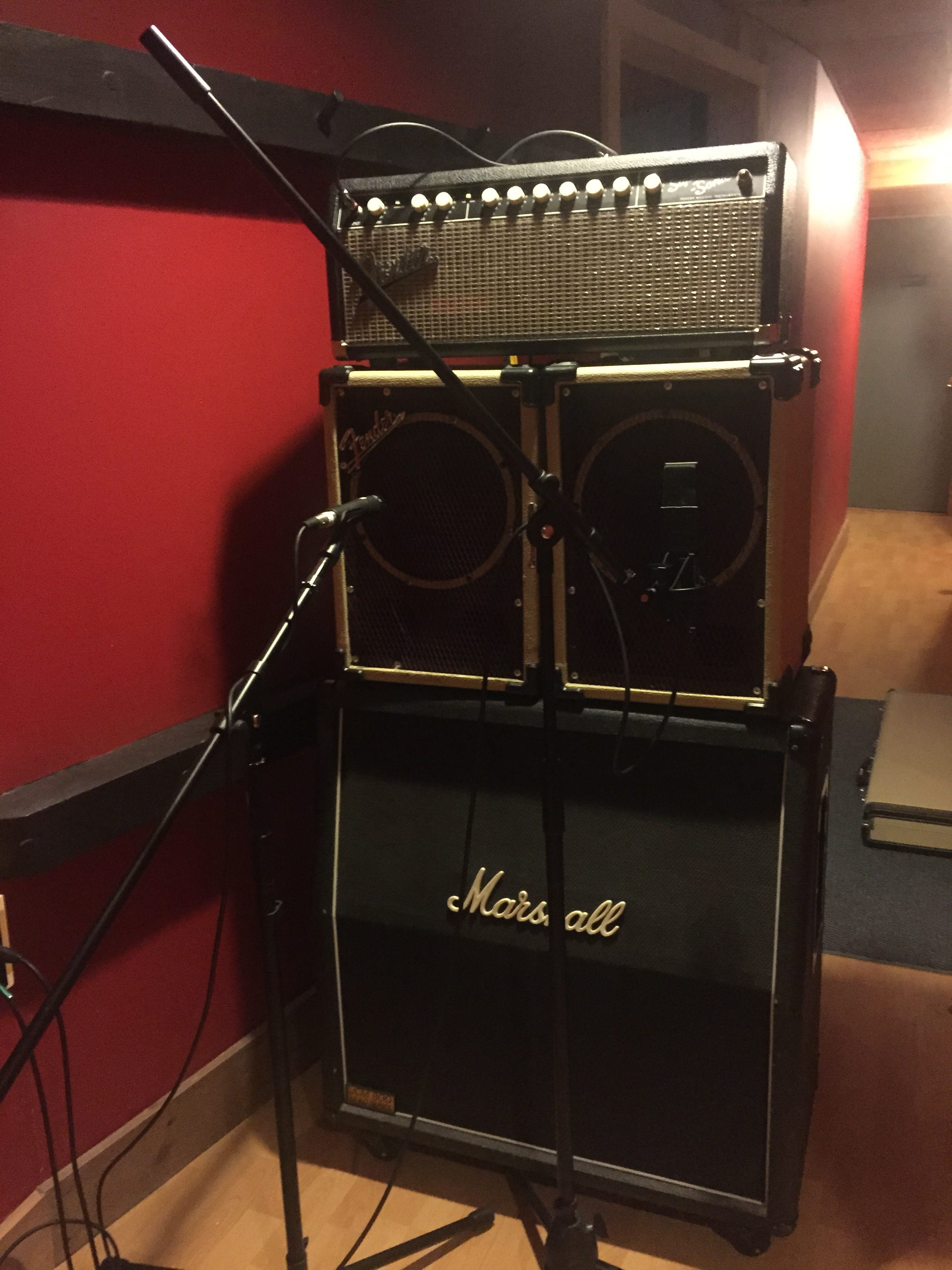 TRIAD Recording- amps in hall