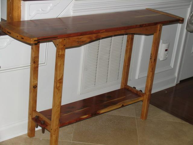 Rustic Stickley Sofa Table 1.JPG