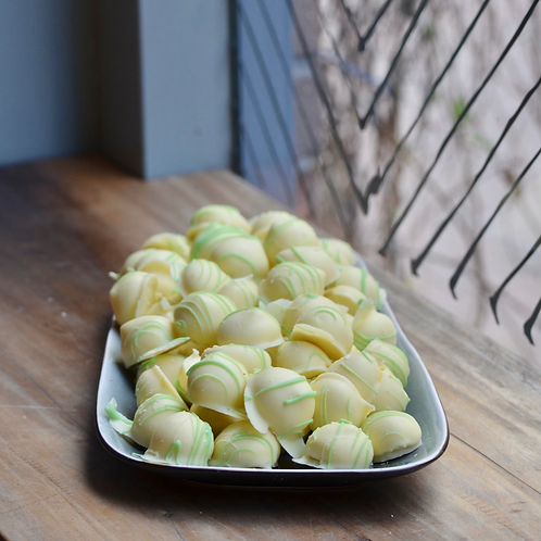 Hemelse truffel munt limoen (per stuk)