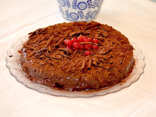 Chocolade-kastanjetaart met rum