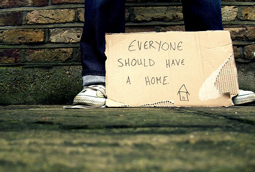 Everyone should have a home picture Homelessness means no shelter, no food, no friends