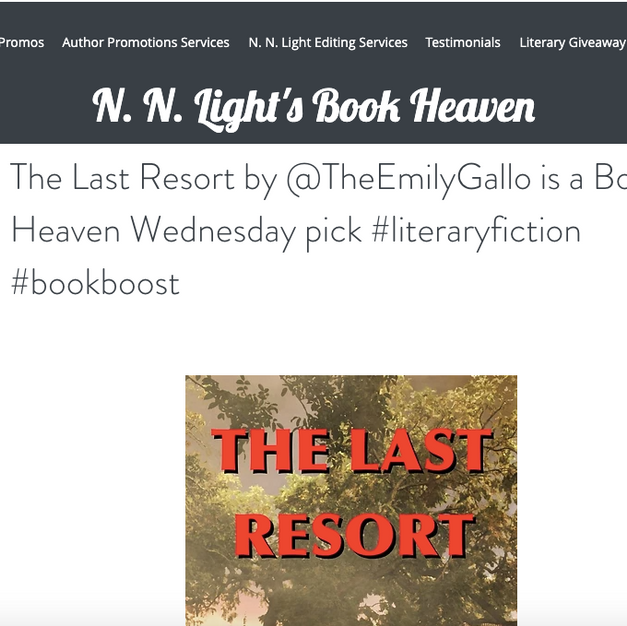 The Last Resort by @TheEmilyGallo is a Book Heaven Wednesday pick