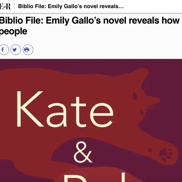 Biblio File: Emily Gallo's novel reveals how time changes people