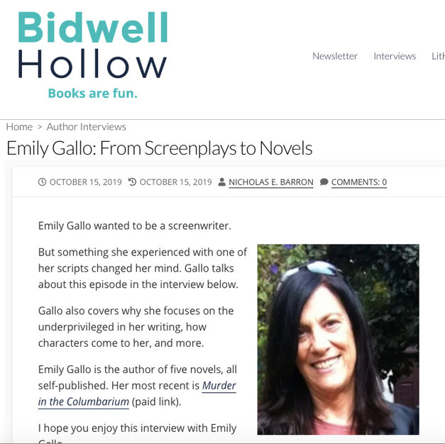 Emily Gallo: From Screenplays to Novels