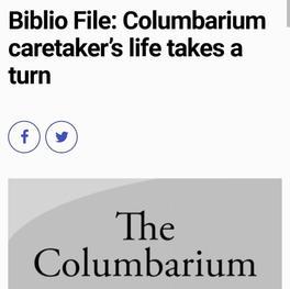 Biblio File: Columbarium caretaker's life takes a turn