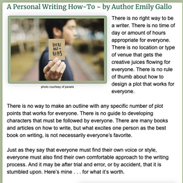 A Personal Writing How-To ~ by Author Emily Gallo