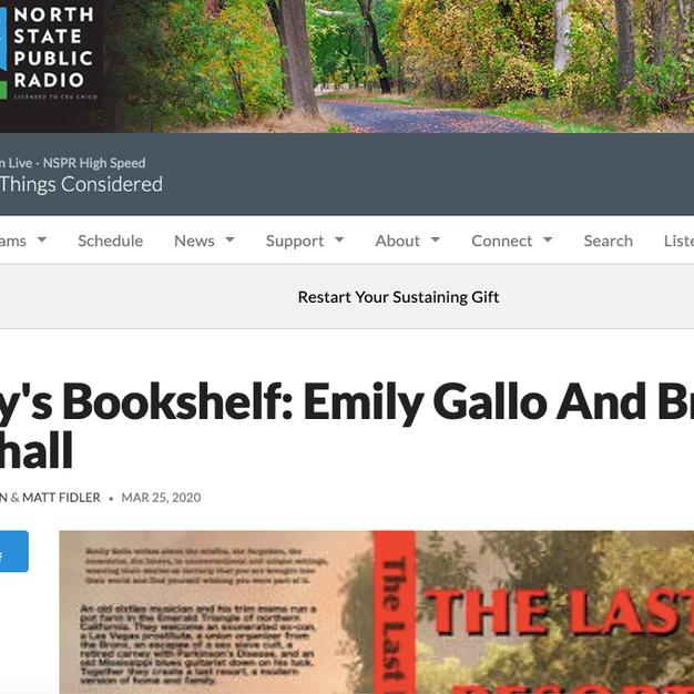 Nancy's Bookshelf: Emily Gallo And Brian T. Marshall
