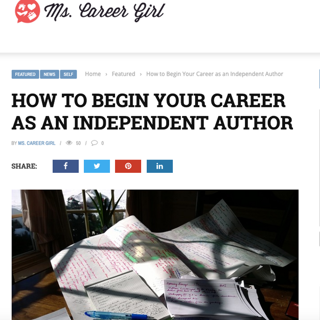 HOW TO BEGIN YOUR CAREER AS AN INDEPENDENT AUTHOR