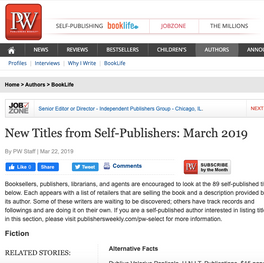 New Titles from Self-Publishers: March 2019
