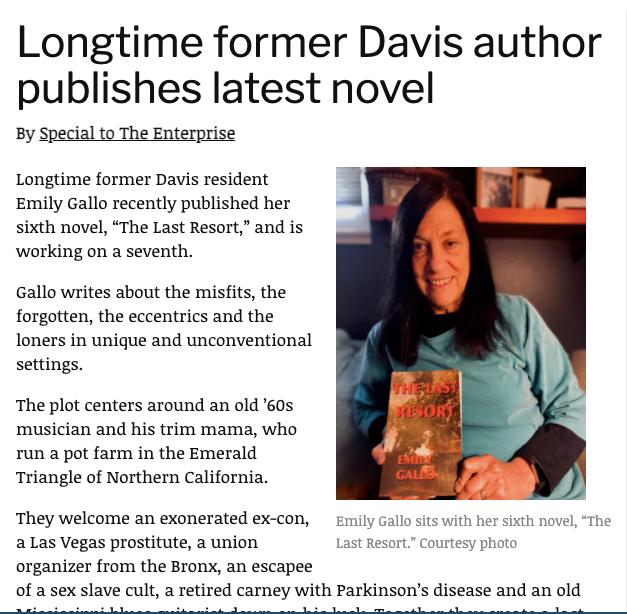 Longtime former Davis author publishes latest novel