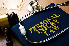 Personal Injury Law concept. Book and st