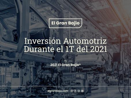 Inversión Automotriz durante el 1T del 2021