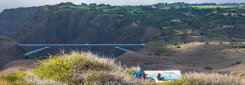 Le pont de la Grande Ravine