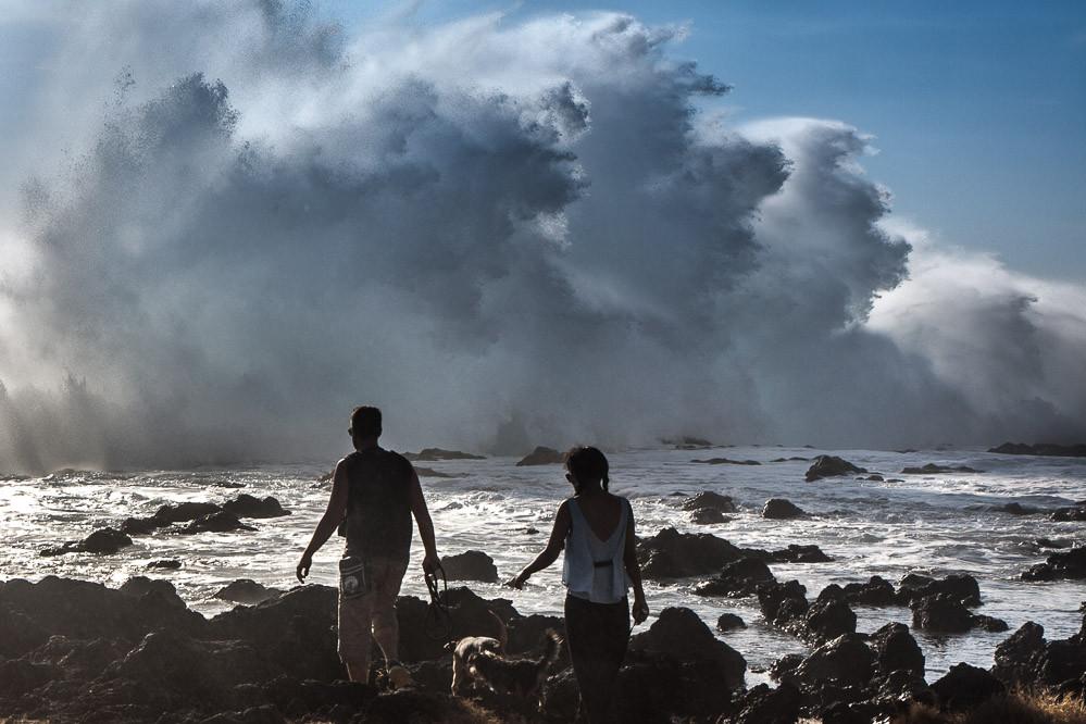 Des vagues de plus de huit mètres de haut
