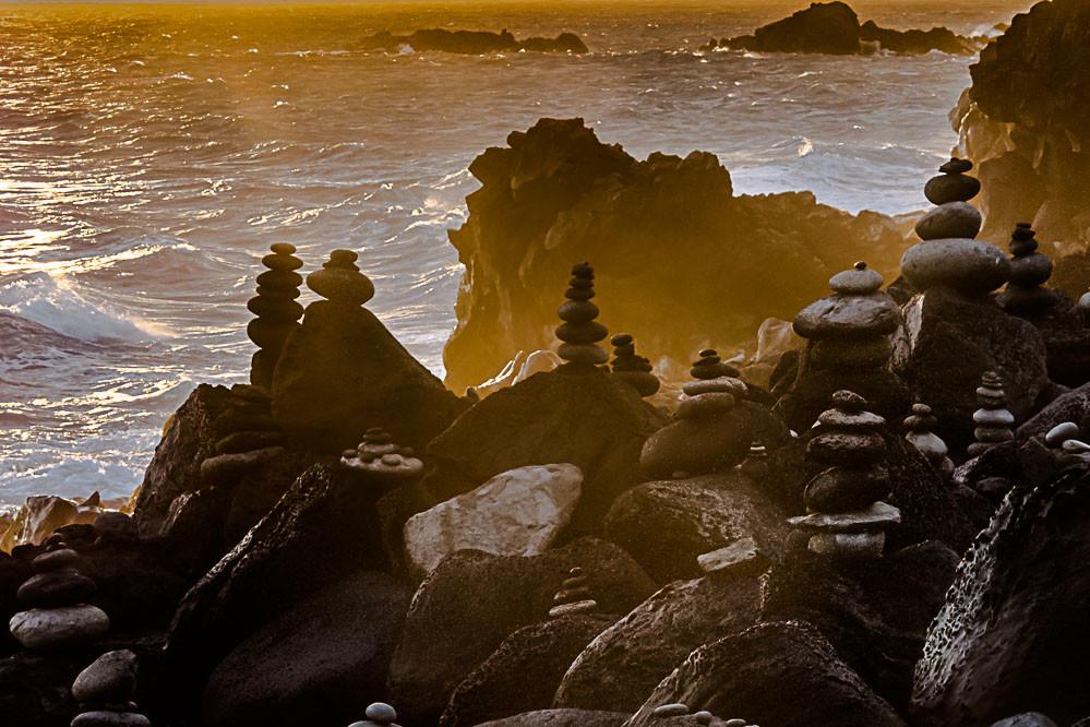 Coucher de soleil sur le sentier littoral de l'Erang-Salé