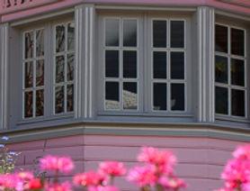 Maison rose à Cilaos, route de Cilaos