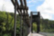 Pont de la rivière de l'est Sainte Rose