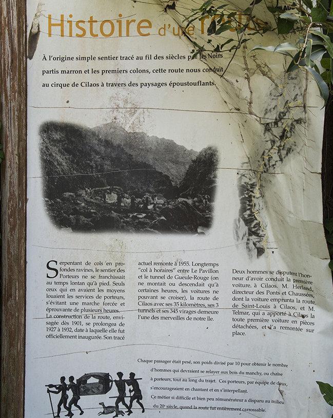 Route Cilaos histoire Ile Réunion