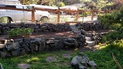 Basalt rock garden project