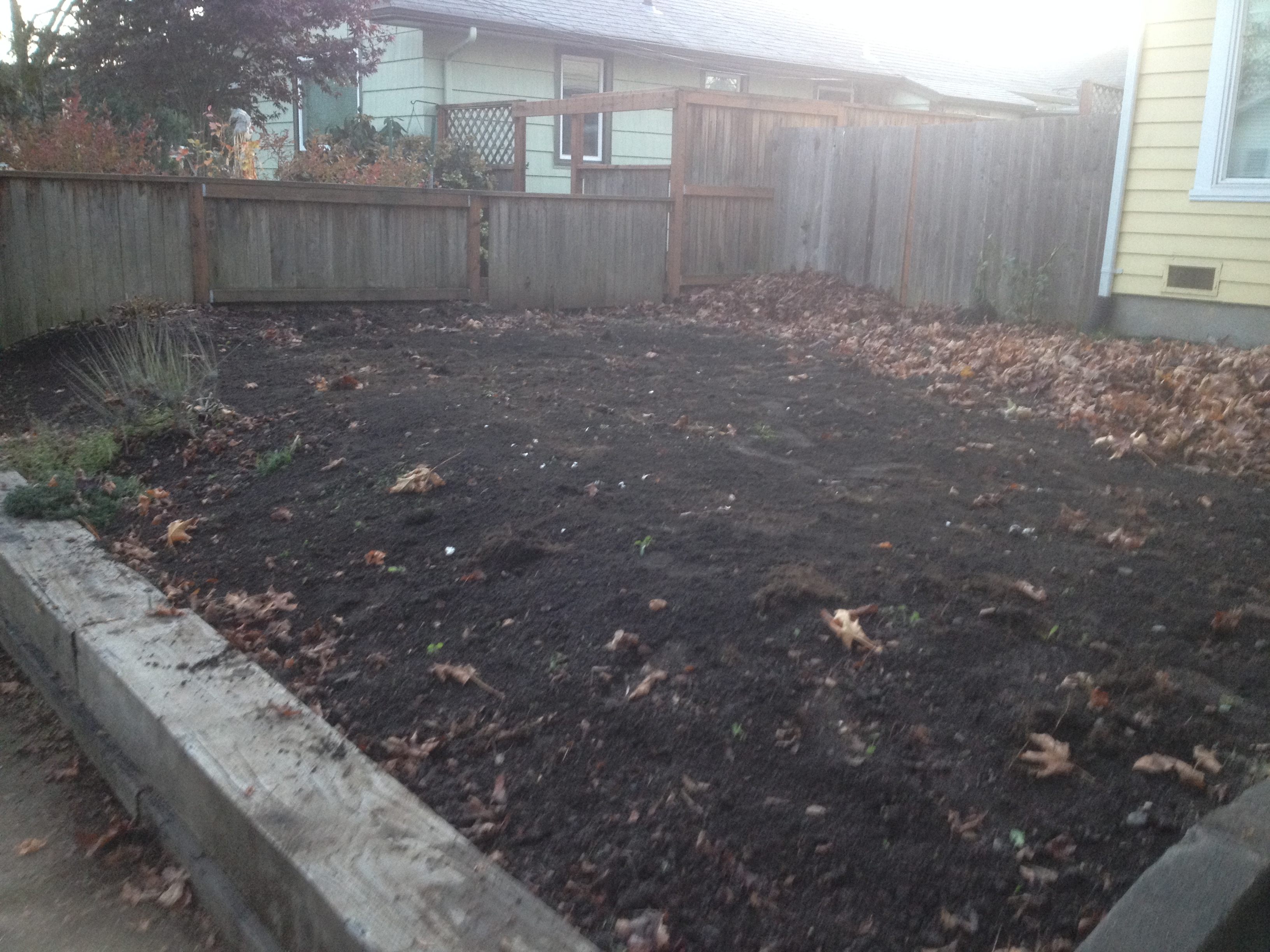 Front yard composting reclamation