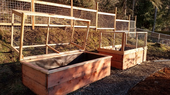 Wildlife proof raised garden beds