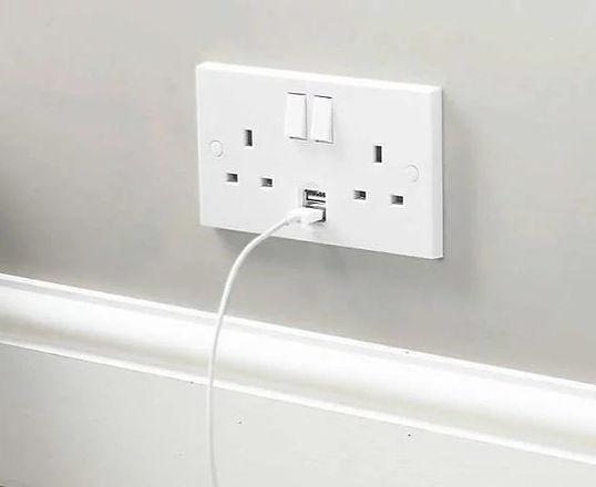 usb socket, electrical socket, fuseboard change, new socket installation