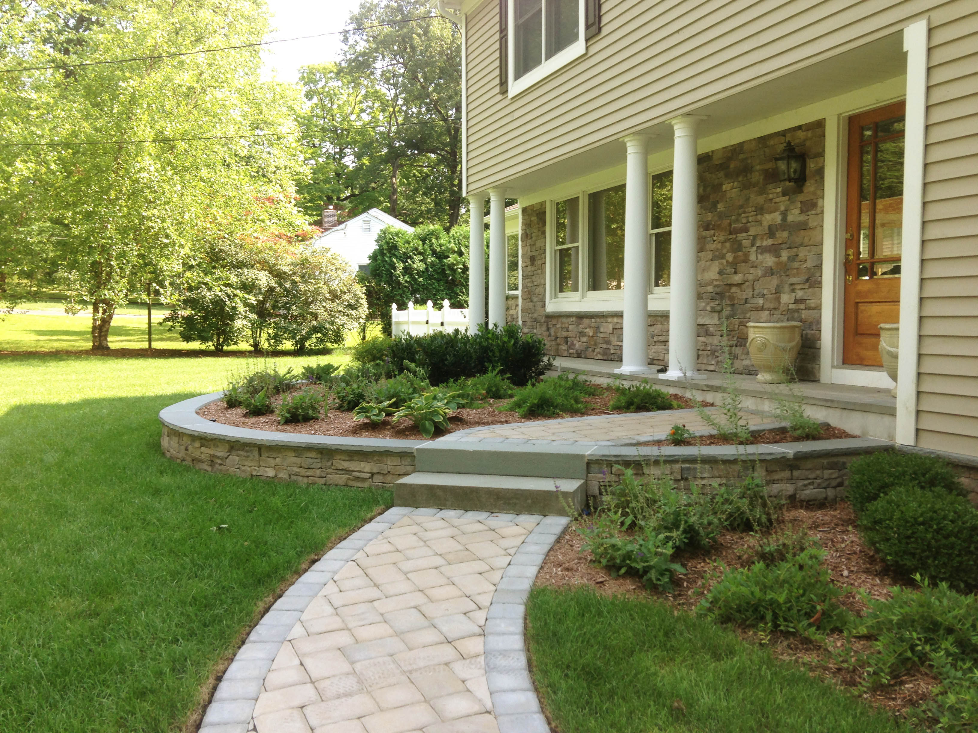 Front Masonry Landscaping