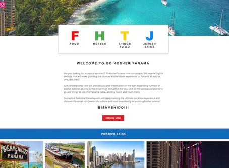 Website design for Go Kosher Panama