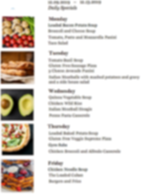 Bloomington lunch specials 38 degrees cafe