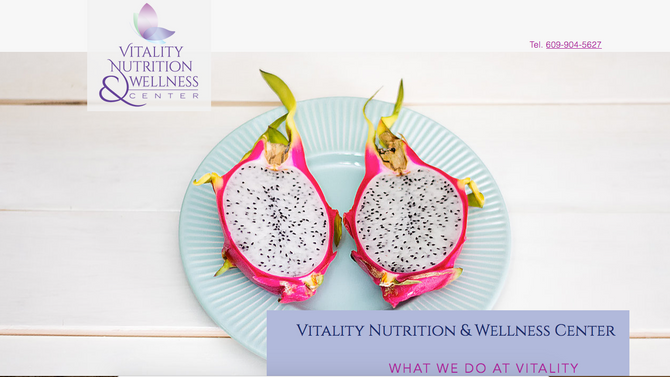 Nutrition and Wellness Center Website Design