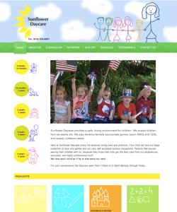 Sunflower Daycare Website Design
