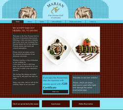 Marjan Persian Grill Webdesign