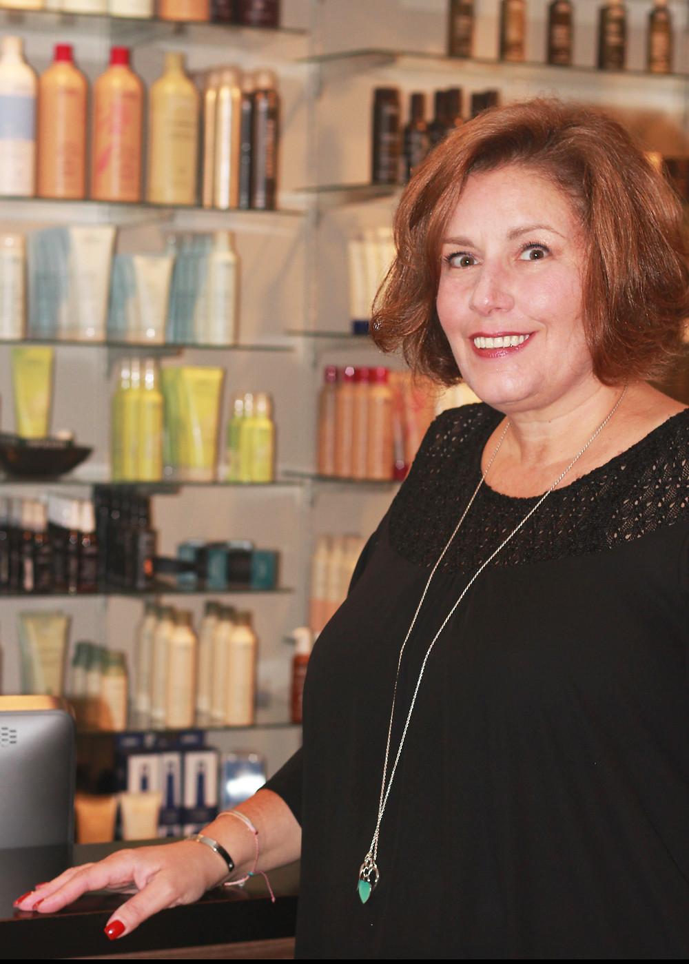 Julie Di Domenico-Kleinow at the Wave hair salon