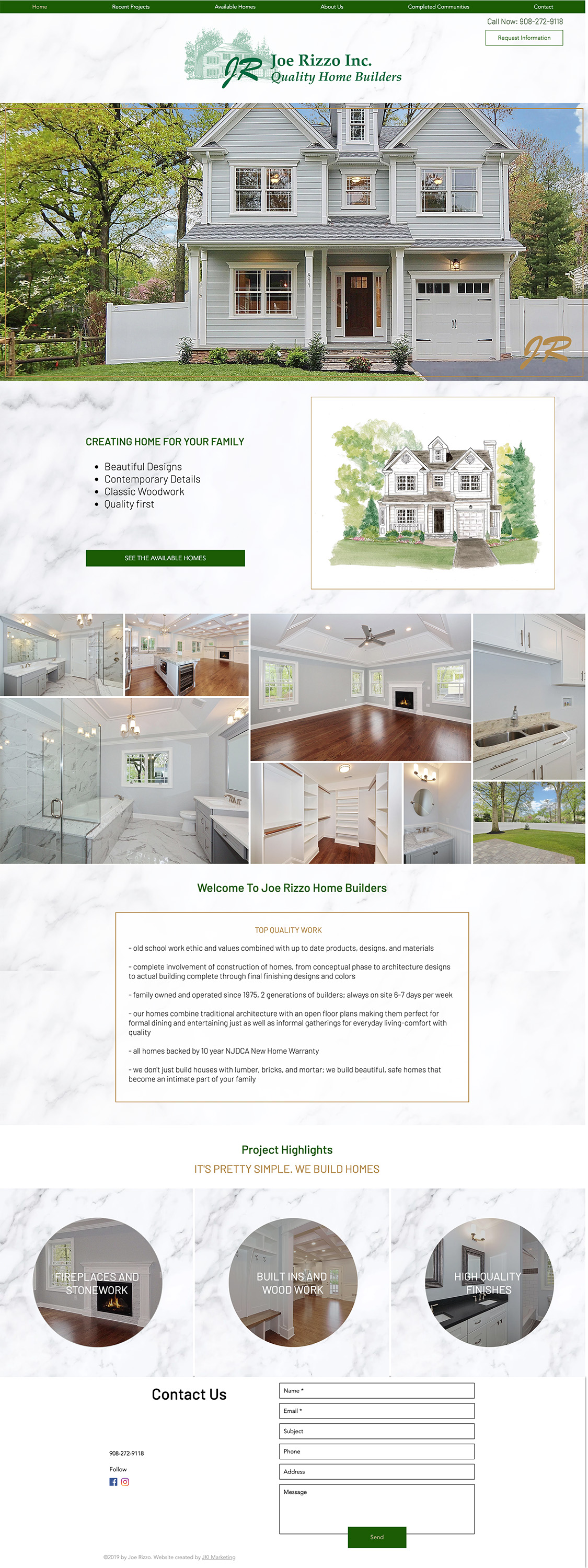 Joe Rizzo Website Design