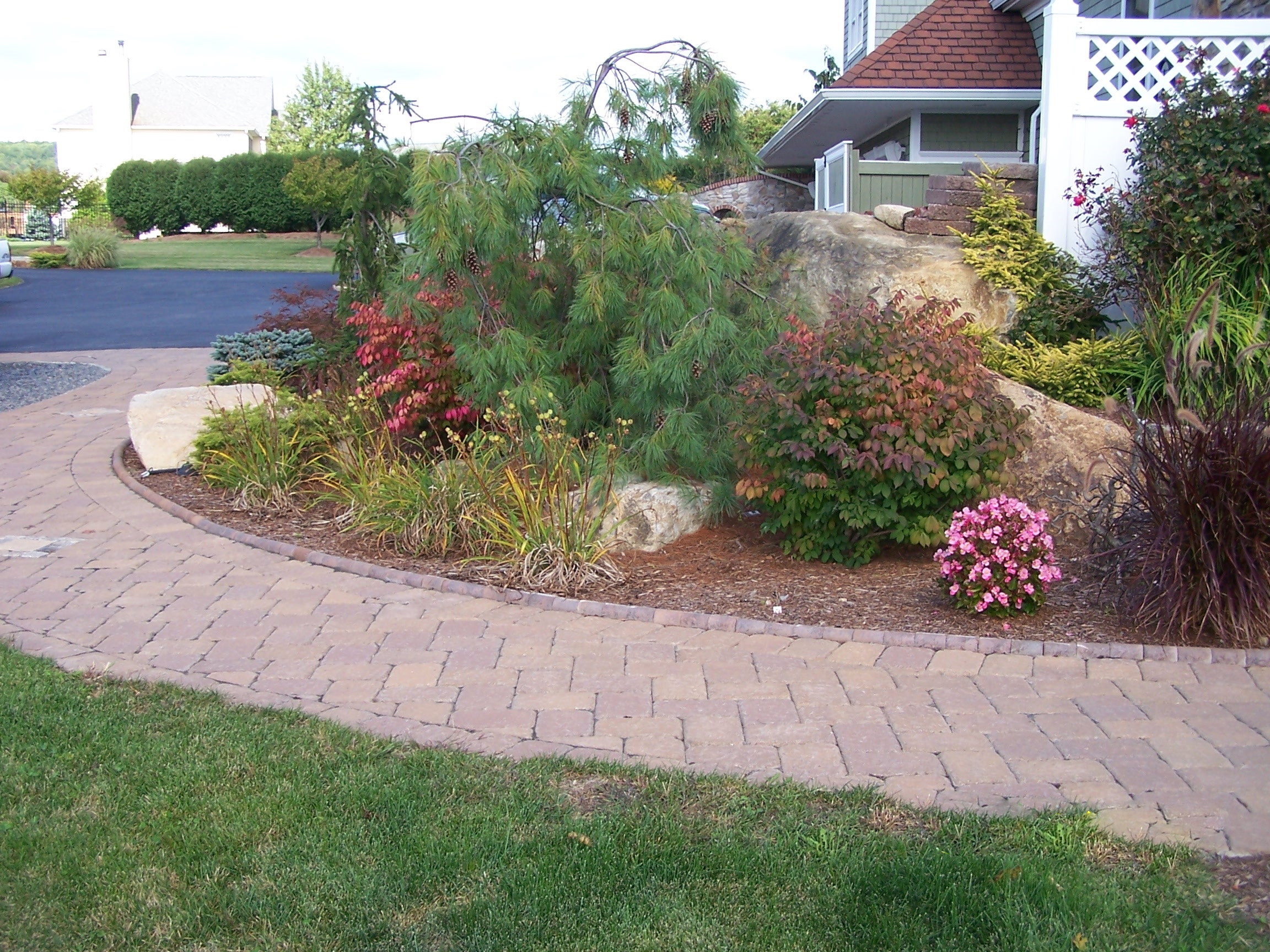 Landscaped Paver Walk
