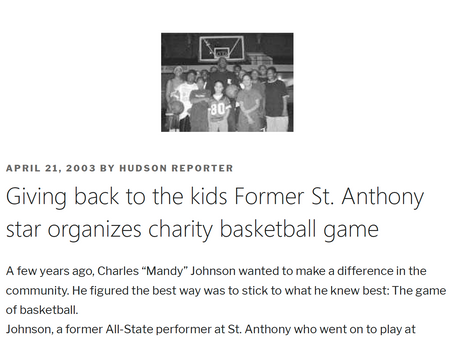 Giving back to the kids Former St. Anthony star organizes charity basketball game