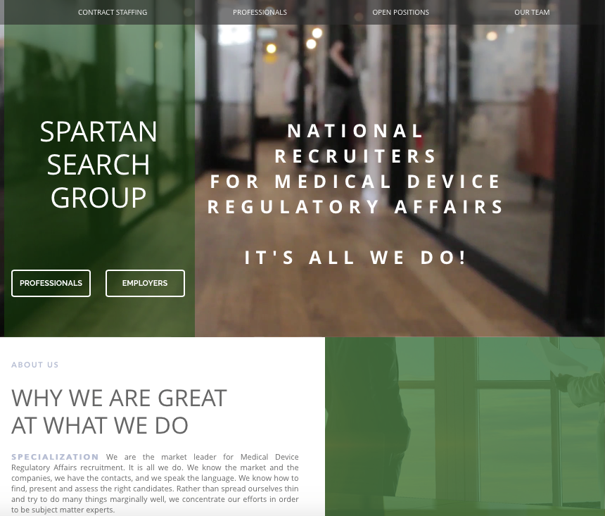 Spartan Search Group Website Design